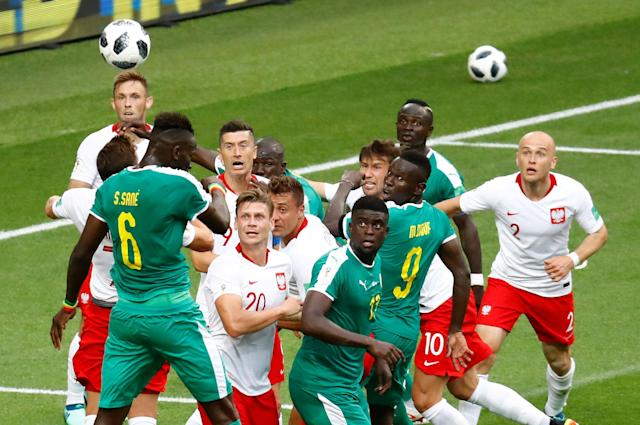Soccer Football - World Cup - Group H - Poland vs Senegal - Spartak Stadium, Moscow, Russia - June 19, 2018 Poland and Senegal players in action REUTERS/Kai Pfaffenbach TPX IMAGES OF THE DAY