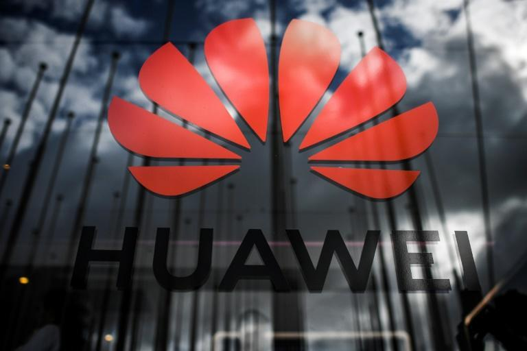 The logo of Chinese telecom giant Huawei is pictured during Europe's largest tech fair, the Web Summit, in Lisbon in November 2019 amid US efforts to shun the company