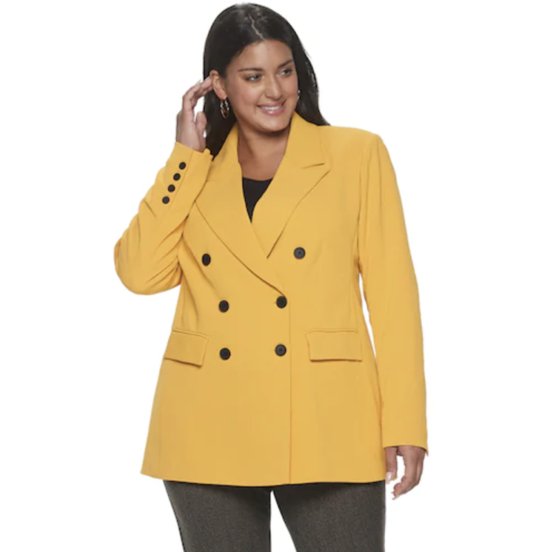 Wear this sunny blazer to meetings or to dress up a pair of jeans. (Photo: Kohl's)