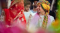 <em>Yeh Rishta Kya Kehlata Hai</em> fame Mohena Kumari Singh tied the knot with Suyesh Rawat on October 14, 2019, in Haridwar. The wedding followed a series of pre-wedding rituals, the bride was beaming on the <em>haldi </em>ceremony which had a yellow theme going on, but crimson was the color for the <em>saat-pheras.</em>