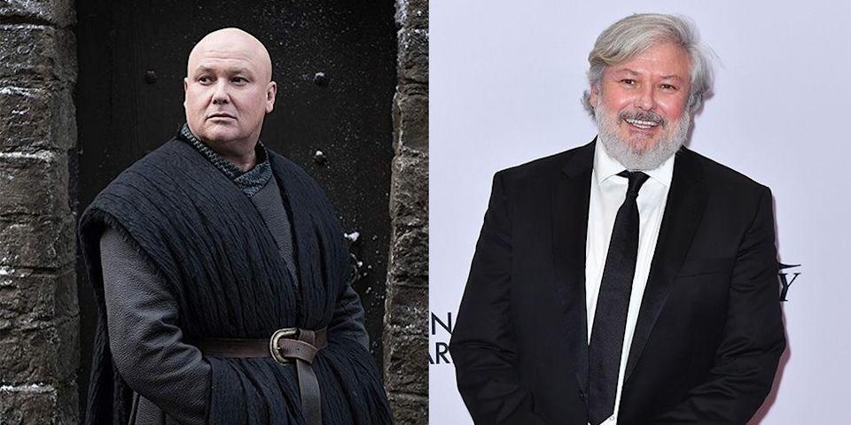 <p>Even though he can clearly rock a bald head, Conleth Hill — who plays Lord Varys on <em>Game of Thrones — </em>has a full head of hair and a beard when not in character.</p>