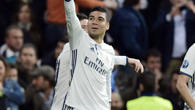 Casemiro Real Madrid Napoli Champions League R16 15022017