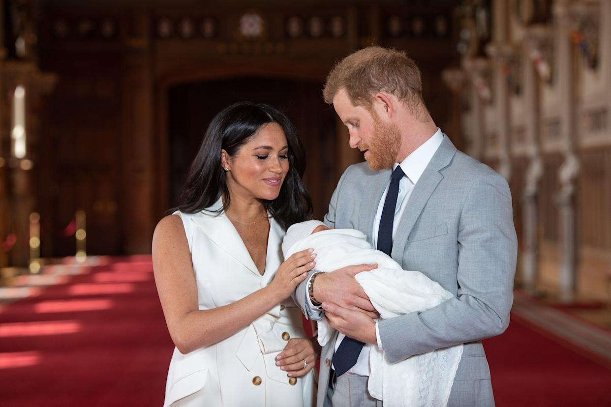 The Duke and Duchess of Sussex with their baby son [Photo: PA]