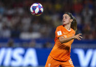 Danielle Van de Donk of Netherlands looks at the ball during the 2019 FIFA Women's World Cup France Semi Final match between Netherlands and Sweden at Stade de Lyon on July 03, 2019 in Lyon, France. (Photo by Quality Sport Images/Getty Images)