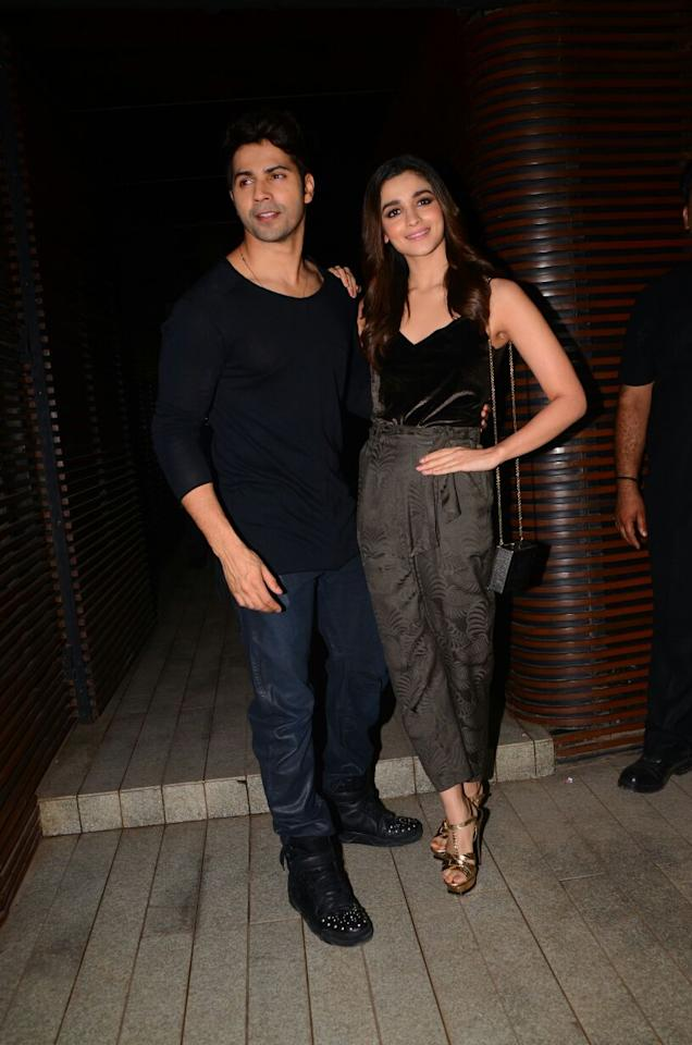 Varun Dhawan and Alia Bhatt starrer Badrinath Ki Dulhania is not only winning hearts but is also minting numbers at the Box Office since day one. The adorable onscreen couple looked stylish and happy like never before at the success bash of their film.