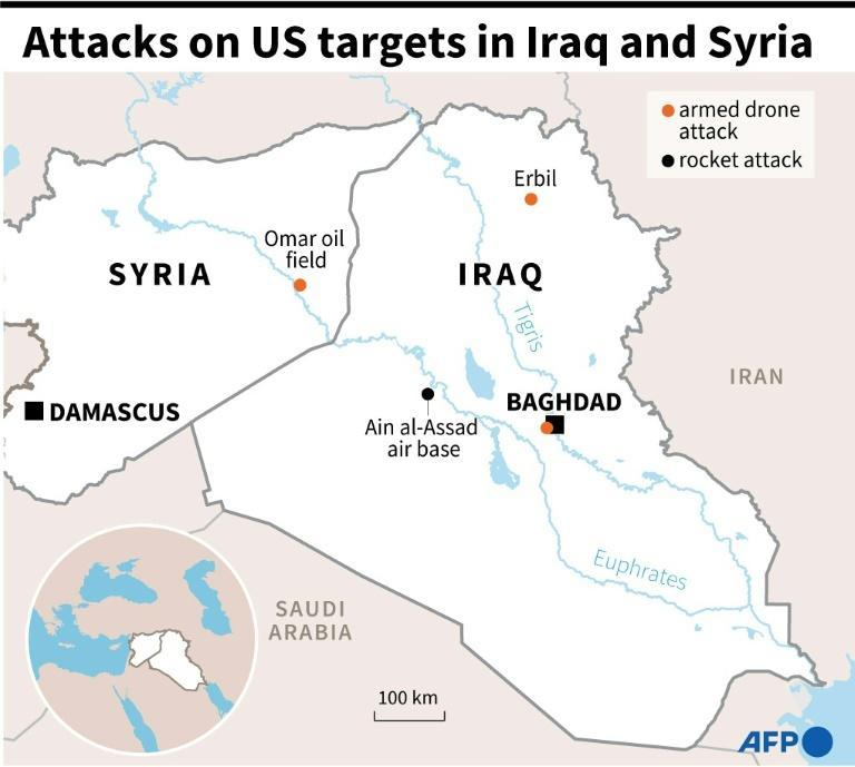 Attacks on US targets in Iraq and Syria