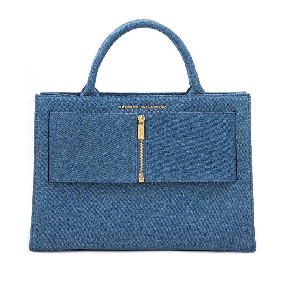 <p>We love a good denim piece, so why not bring it into your bag collection? The <span>Brandon Blackwood Jumbo Kuei Bag</span> ($385) is chic, and will instantly elevate any outfit.</p>