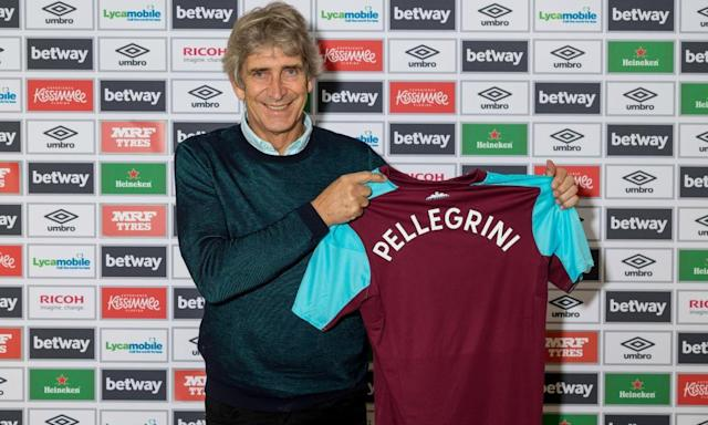 West Ham appoint Manuel Pellegrini as manager on three-year deal