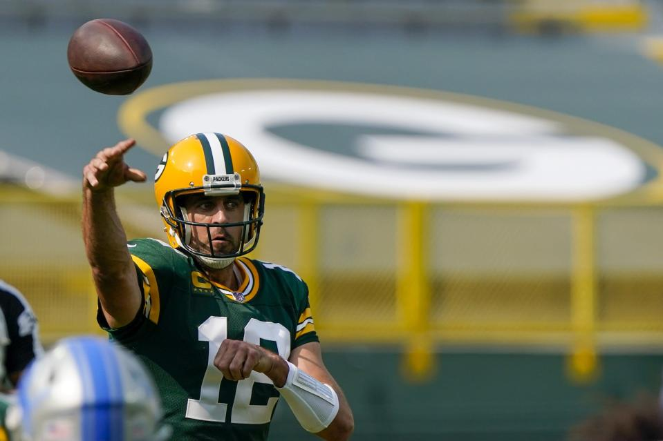 A vengeful and motivated Aaron Rodgers is great news for fantasy managers. (AP Photo/Morry Gash)