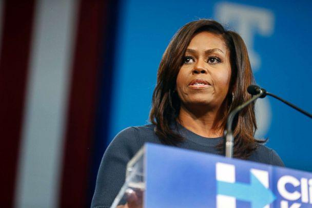 PHOTO: First lady Michelle Obama speaks during a campaign rally for Democratic presidential candidate Hillary Clinton in Manchester, N.H., Oct. 13, 2016. (Jim Cole/AP, FILE)