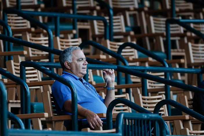 Tigers general manager Al Avila, pictured here with all the high-level prospects likely to be change teams at this year's deadline.