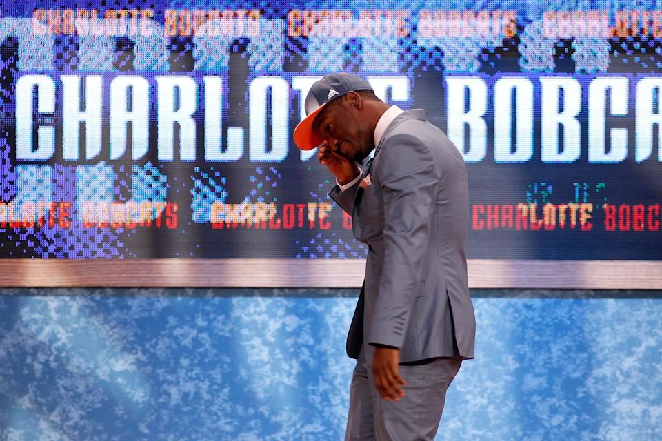 Charlotte drafted Kemba Walker No. 9 overall in 2011 largely because Michael Jordan became enamored with him during the NCAA tournament. (Getty)
