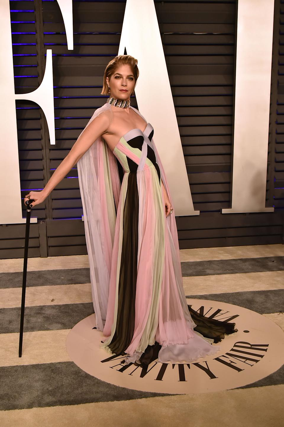 Selma Blair attends the 2019 Vanity Fair Oscar Party. (Photo by David Crotty/Patrick McMullan via Getty Images)