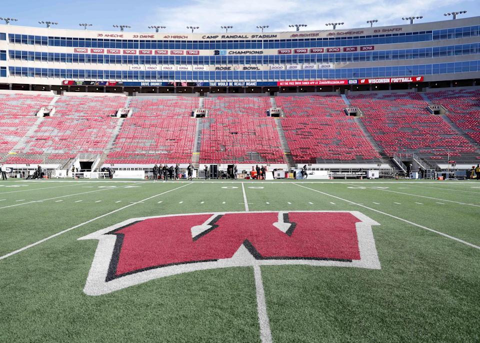 The field is ready before the Badgers game against Purdue at Camp Randall Stadium in Madison, WI on Saturday, Nov. 23, 2019.  Photo by Mike De Sisti/Milwaukee Journal Sentinel