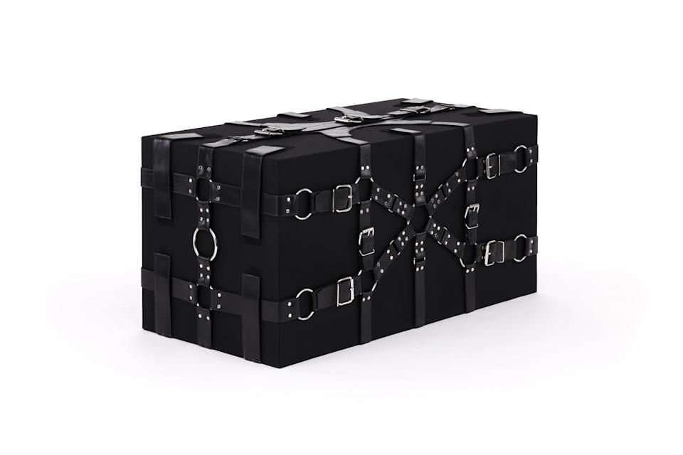 Architect Peter Marino conceived this trunk for Louis Vuitton's windows. - Credit: Courtesy