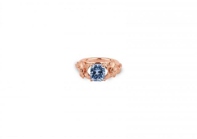 The Jane Seymour 2.08-carat Fancy Vivid Blue diamond ring