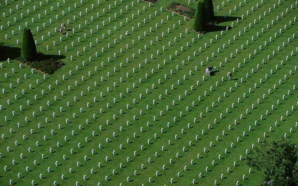 The American Cemetery in Normandy, France.   Camille Moirenc/hemis.fr/Getty Images