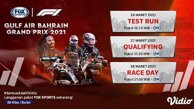 Formula 1 Fox Sports. (Sumber : dok. vidio.com)