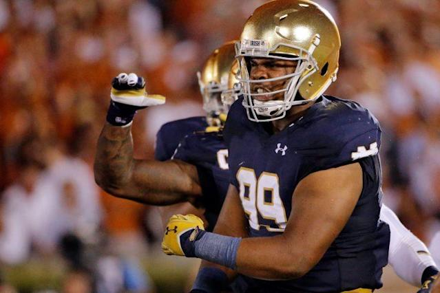 "<a class=""link rapid-noclick-resp"" href=""/ncaaf/players/252140/"" data-ylk=""slk:Jerry Tillery"">Jerry Tillery</a> (Getty Images)"