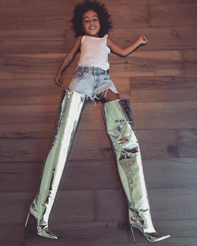 <p>One of the best instagrams out there. Kim made the joke that she didnt think North would already be stealing her shoes, but at least she has good taste. Who can turn down Balenciaga? (Photo: Kim Kardashian West/Instagram) </p>