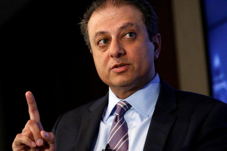 Bharara speaks during an event in New York City last year. (Brendan McDermid/Reuters)