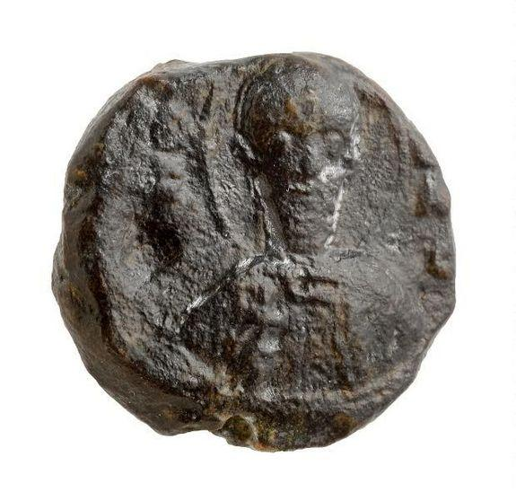 The seal bears the image of the bearded Saint Sabas (also known as Mar Saba) holding a cross.
