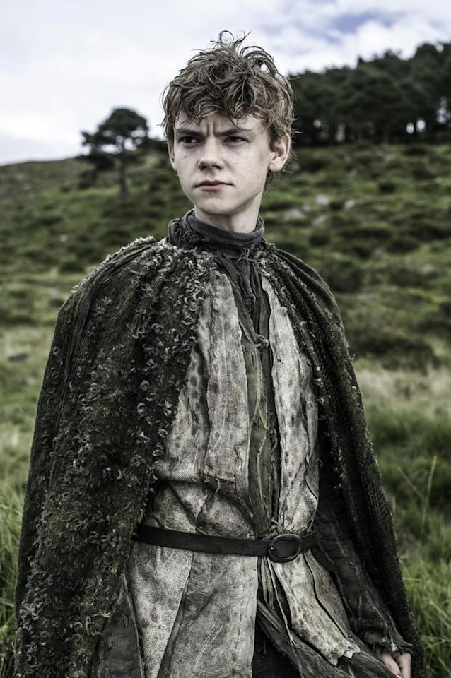 In Season 3, we meet Jojen Reed (Thomas Sangster), the son of a loyal Stark bannerman who aids Bran in fleeing from Theon.