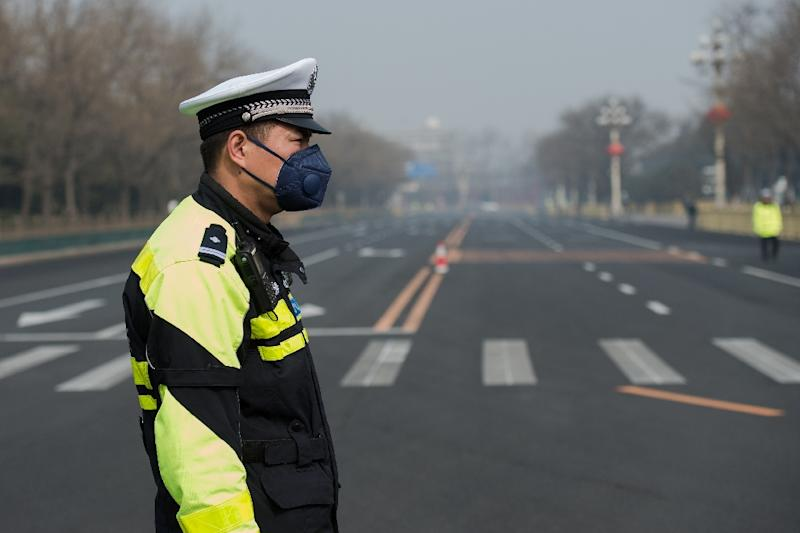 "Breathlessly narrated segments of the film ""Amazing China"" praise China's armed forces modernisation, infrastructure achievements, space programme and economic development but major problems like chronic air pollution and corruption are ignored (AFP Photo/NICOLAS ASFOURI)"
