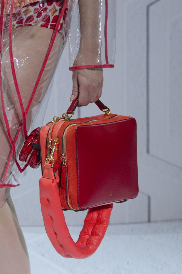 <p><i>Red boxy-shaped bag from the SS18 Anya Hindmarch collection. (Photo: ImaxTree) </i></p>