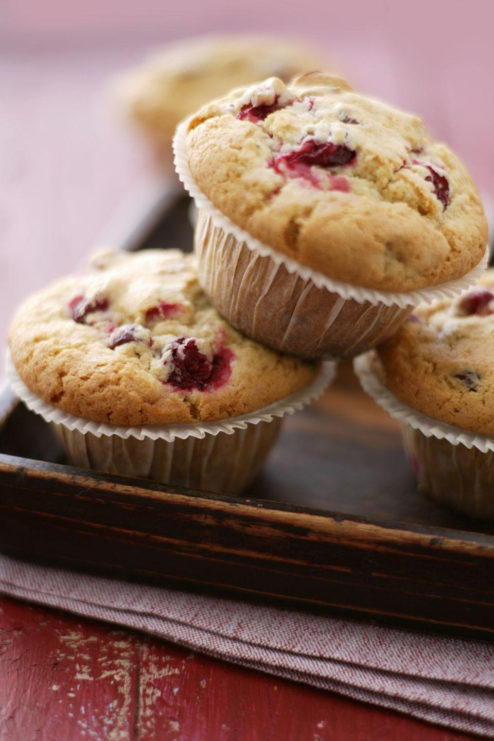 """<p>Use leftover cranberry sauce to create this muffin recipe for an easy breakfast treat or a quick on-the-go snack.</p><p><strong><a href=""""https://www.countryliving.com/food-drinks/recipes/a3089/cranberry-streusel-corn-muffins-recipe/"""" rel=""""nofollow noopener"""" target=""""_blank"""" data-ylk=""""slk:Get the recipe"""" class=""""link rapid-noclick-resp"""">Get the recipe</a>.</strong></p>"""