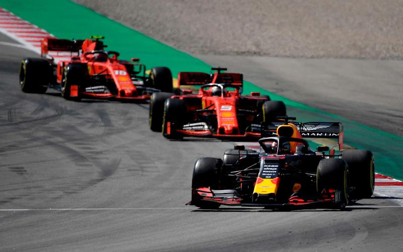 Both Ferraris finished behind the Red Bull of Max Verstappen - AFP