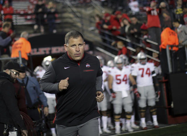 Ohio State formally announced a significant raise for defensive coordinator Greg Schiano. (AP Photo/Mel Evans, file)