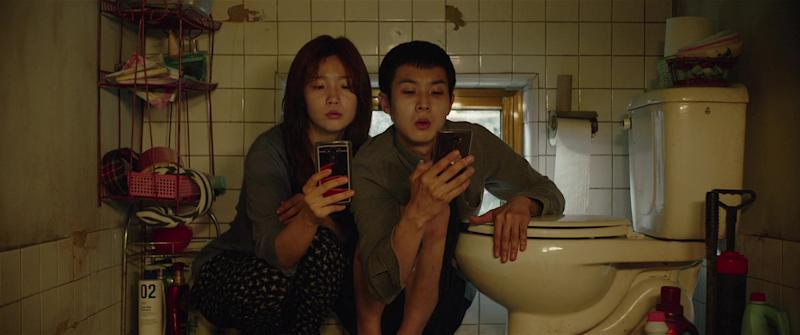 Woo-sik Choi and So-dam Park in Parasite (Gisaengchung).(PHOTO: IMDB)
