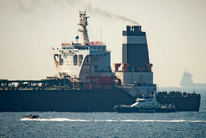 Gibraltar rejects US pressure, says Iranian oil tanker free to go