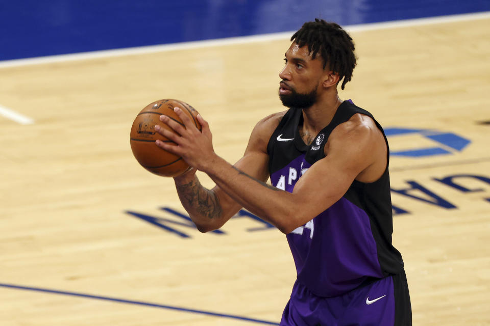 Khem Birch, of the Toronto Raptors