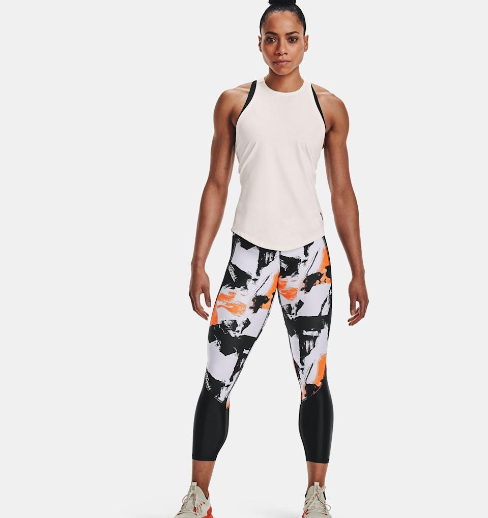 """<p>Part of Dwayne """"The Rock"""" Johnson's exclusive Under Armour collection, these <span>Project Rock Ankle Leggings</span> ($65) are ideal for long training sessions at the gym. The ultra-tight compression increases blood flow to make exercise less tiring, antimicrobial fabric prevents sweat-induced odor, and flatlock seams make for a chafe-free fit.</p>"""