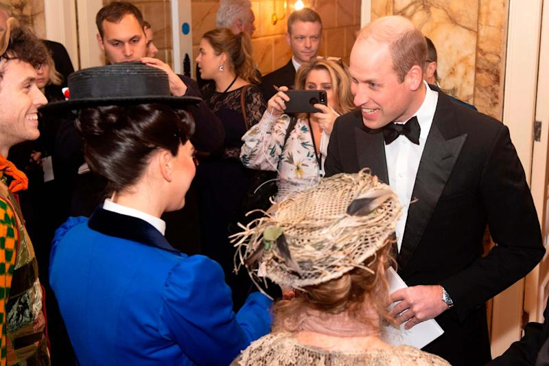Prince William speaks to the cast of Mary Poppins (POOL/AFP via Getty Images)