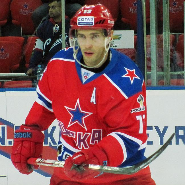 Pavel Datsyuk on the ice for CSKA Moscow. (#NickInEurope)