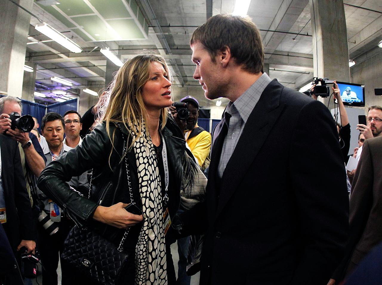 "Gisele Bundchen was caught in the spotlight after her rant defending her husband, Tom Brady, when the New England Patriots suffered a tough loss at last year's Super Bowl. ""You are supposed to catch the ball when you're supposed to catch the ball,"" she told cameras, placing the blame on the team's receivers. ""My husband cannot [expletive] throw the ball and catch the ball at the same time."""