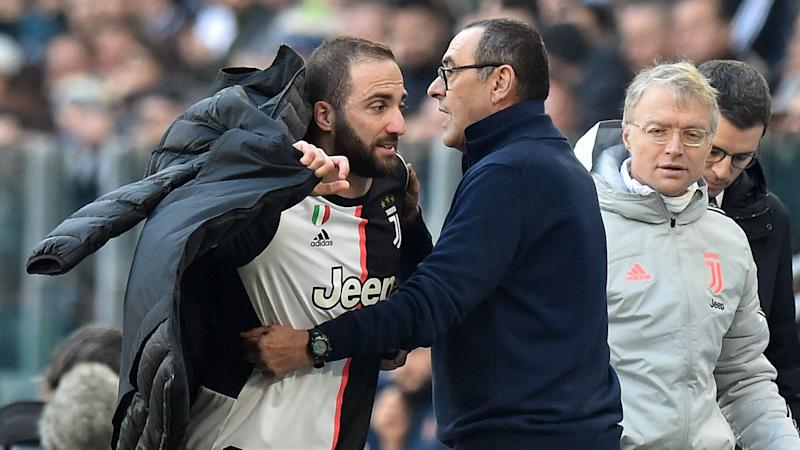 I only ever fight with Higuain – Sarri suggests Juventus forward needs tough love