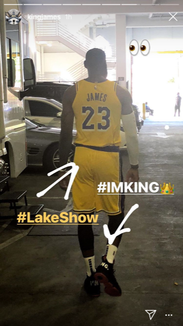 LeBron James gives fans first look at him in Lakers uniform, and he's wearing Kobes