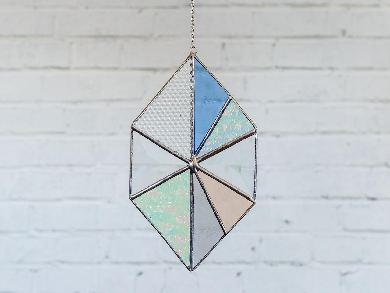 "Stylist turned artist Janel Foo makes all her pieces by hand in L.A. <a rel=""nofollow"" href=""http://www.janelfoo.com/shop/pirouette?category=suncatchers"" rel=""nofollow"">SHOP NOW</a>: 6"" x 3.5"" Pirouette Suncatcher by Janel Foo, $72, janelfoo.com"