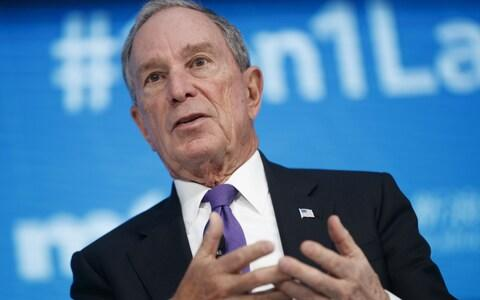 Mike Bloomberg joined a competitive field, with more than a dozen Democrats still vying for their party's nomination - Credit: SHAWN THEW/EPA-EFE/REX