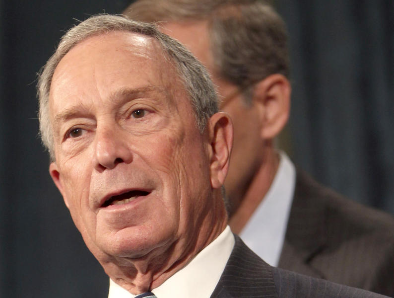 FILE - In this Sept. 13, 2012 file photo, New York City Mayor Michael Bloomberg speaks at a news conference in New York. The latest trend in an election year marked by gushers of money? Big spenders going solo to spread a message, with Bloomberg setting aside $10 million of his personal fortune to help elect moderate candidates around the country. (AP Photo/Seth Wenig, File)