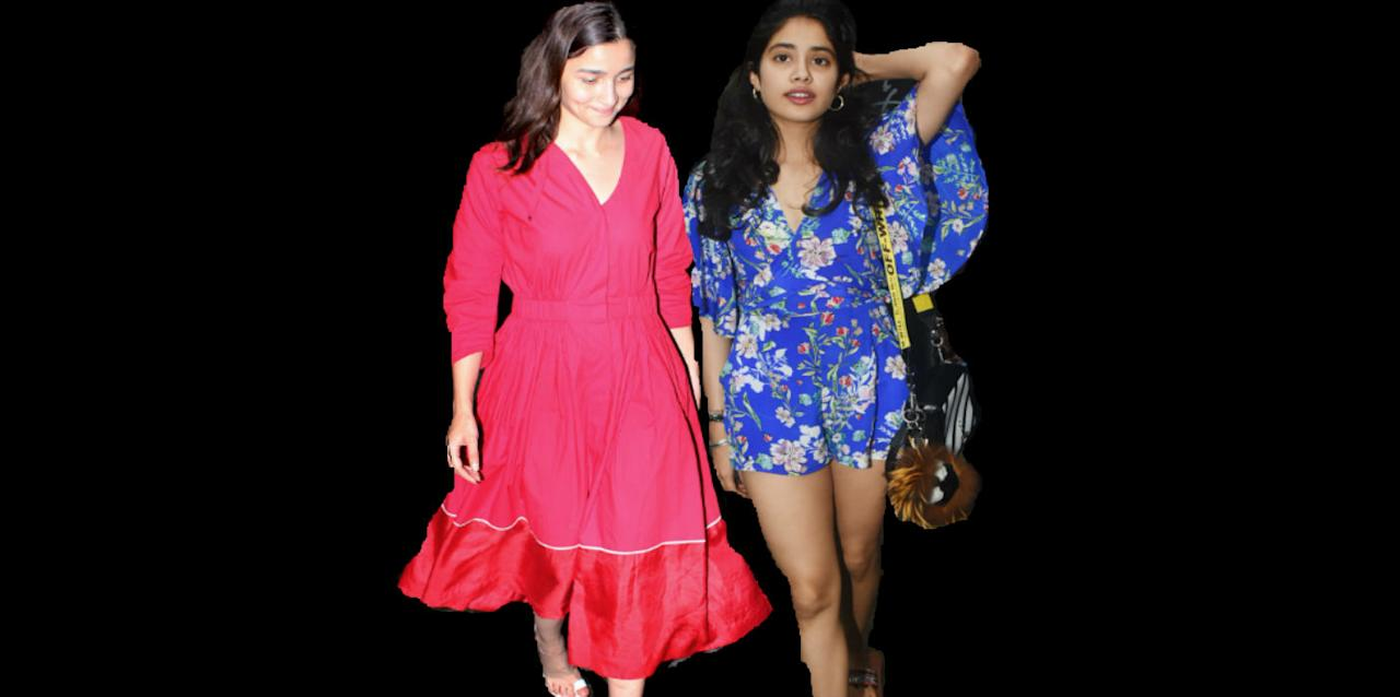 Get the look: Dress it up like Alia Bhatt and Janhvi Kapoor