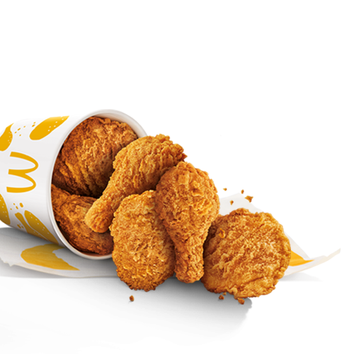 McDonald's Singapore's Chicken McCrispy, fried chicken thighs and drumsticks.