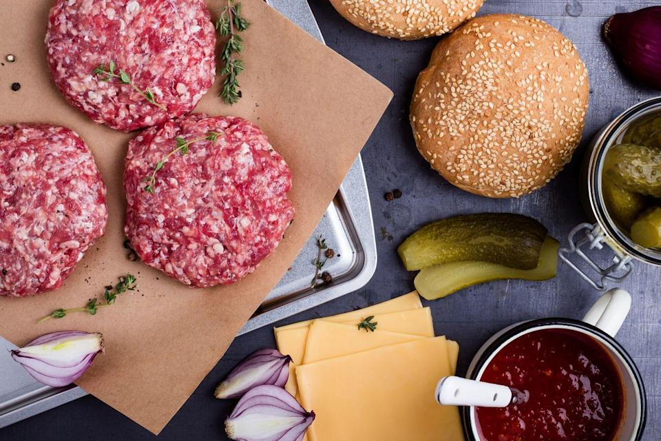 """<p>Grabbing the meat out of the fridge and immediately throwing it on the grill isn't the way to go. By letting it sit and come to room temperature, """"there's less shock to it when placed on a hot cooking surface,"""" which allows for more even cooking, chef Cory Harwell, owner of <a href=""""https://carsonkitchen.com/"""" rel=""""nofollow noopener"""" target=""""_blank"""" data-ylk=""""slk:Carson Kitchen"""" class=""""link rapid-noclick-resp"""">Carson Kitchen</a>, tells Woman's Day. </p>"""