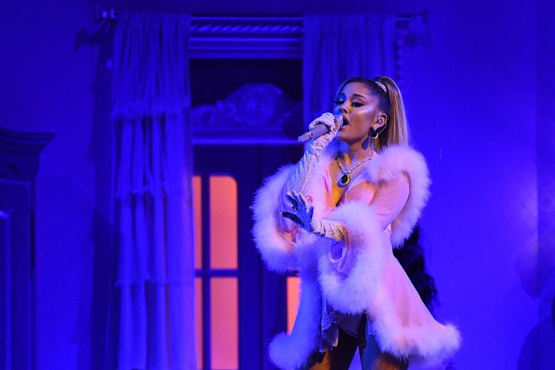 Grande performing at the Grammys earlier this year (AFP via Getty Images)