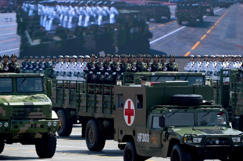 A display of China's military power at a WWII September parade in Beijing has heightened popular Chinese expectations (AFP Photo/Wang Zhao)