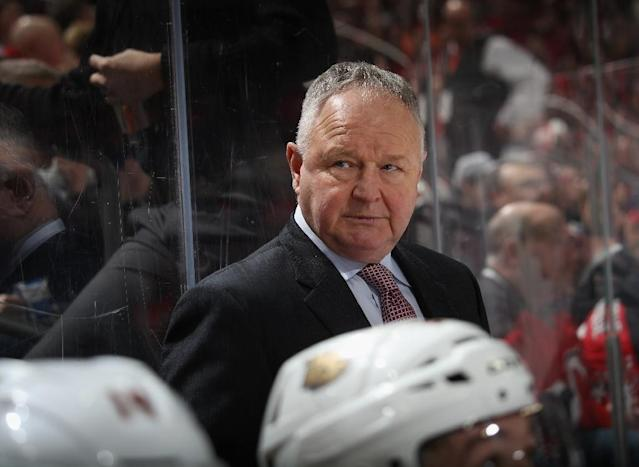 Randy Carlyle was fired on Sunday as coach of the National Hockey League's Anaheim Ducks (AFP Photo/BRUCE BENNETT)